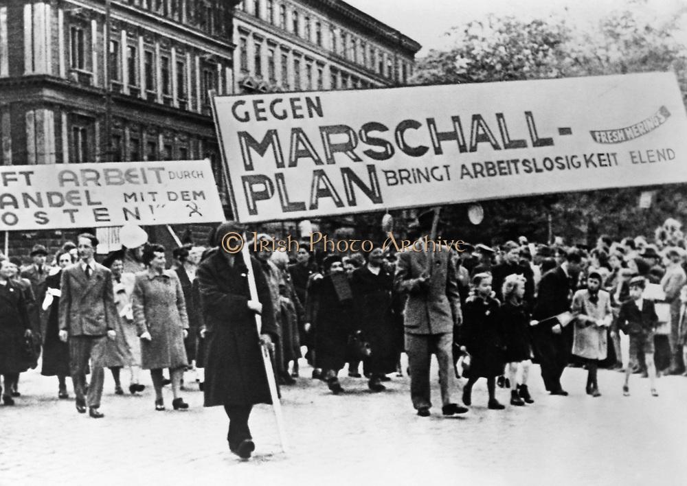 Marshall plan demonstration in Germany 1948