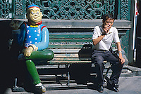 Chine. Pekin. Quartier de Qianmen. // China. Beijing. Qianmen area.