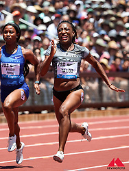 Marie-Josee TaLou, Ivory Coast, wins womens 100 meters 11.02 at 2019 The Prefontaine Classic Track & Field<br /> IAAF Diamond League
