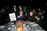 SIR ELTON JOHN; BEN DREW; ( PLAN B ) GEOGIE ATHERTON, Grey Goose Winter Ball to Benefit the Elton John AIDS Foundation. Battersea park. London. 29 October 2011. <br /> <br />  , -DO NOT ARCHIVE-© Copyright Photograph by Dafydd Jones. 248 Clapham Rd. London SW9 0PZ. Tel 0207 820 0771. www.dafjones.com.