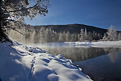 """Winter, Snake River, Grand Teton National Park<br /> <br /> For production prints or stock photos click the Purchase Print/License Photo Button in upper Right; for Fine Art """"Custom Prints"""" contact Daryl - 208-709-3250 or dh@greater-yellowstone.com"""