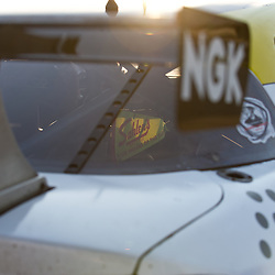 July 1, 2012 - A Sahlen's pennant catches light through the windshield of a Team Sahlen Mazda RX-8 after The Grand-Am Rolex Sports Car Series Sahlen's Six Hours of the Glen.