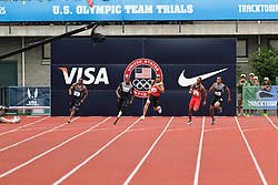 Olympic Trials Eugene 2012: men's 200 meter final, Spearmon, Young, Mitchell, Dobson, Rowland