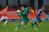 Vaclav Hladky during the EFL Sky Bet League 2 match between Salford City and Bradford City at the Peninsula Stadium, Salford, United Kingdom on 21 November 2020.