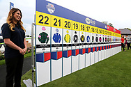 The completed draw for the 2018 Ebor Handicap made at York Racecourse before racing during the Yorkshire Ebor Festival, Darley Yorkshire Oaks, at York Racecourse, York, United Kingdom on 23 August 2018. Picture by Mick Atkins.