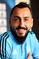 New signing player Kostas Mitroglou of Olympique de Marseille during press conference on September 1, 2017 in Marseille, France. (Photo by Alexandre Dimou/Icon Sport)