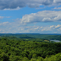 """""""Donegal Vista""""<br /> <br /> Ah, the beauty of Donegal in the Laurel Highlands! Summertime brings a gorgeous green view of endless forests, as well as lakes a plenty. Beautiful summertime clouds pass all across the sky!!<br /> <br /> Laurel Highlands Area of Pennsylvania by Rachel Cohen"""