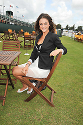 LAUREN BUDD (Model name Violet Budd) at the 2009 Veuve Clicquot Gold Cup Polo final at Cowdray Park Polo Club, Midhurst, West Sussex on 19th July 2009.