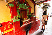 A traditional Chinese shrine in Macau. incense
