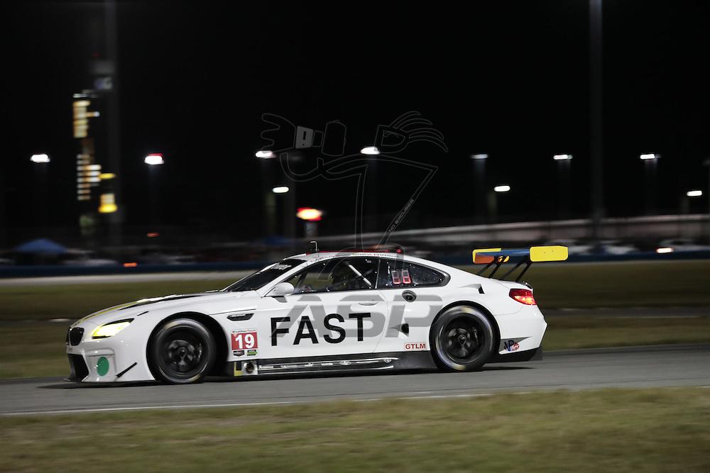 January 07, 2017 - Daytona Beach, Florida, USA:  The BMW Team RLL car races through the turns at the Roar Before The Rolex 24 at Daytona International Speedway in Daytona Beach,Florida.