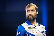 Dmitriy Gorbunov (Russia) during the William Hill World Darts Championship at Alexandra Palace, London, United Kingdom on 20 December 2020.