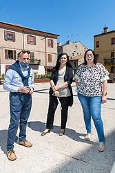 DA SX PAOLO ACCARDO ALESSANDRA ZANGHERATTI E HANIA CATTANI<br /> CONFERENZA STAMPA SINDACATI SCUOLA FERRARA