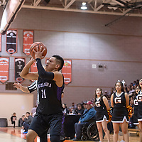 Noah Nells (11) takes a shot for Miyamura in a game against Gallup during the 75th Annual Gallup Boys Invitational Basketball Tournament, Saturday, Jan. 5, 2019 at Gallup High School.