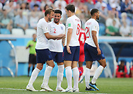 Harry Kane of England celebrates after his goal with Kyle Walker and Harry Maguire during the 2018 FIFA World Cup Russia, Group G football match between England and Panama on June 24, 2018 at Nizhny Novgorod Stadium in Nizhny Novgorod, Russia - Photo Tarso Sarraf / FramePhoto / ProSportsImages / DPPI