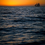 Sailboat in sunset. Cabo San Lucas, BCS. Mexico
