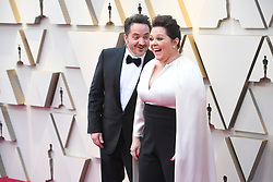 February 24, 2019 - Los Angeles, California, U.S - BEN FALCONE AND MELISSA MCCARTHY during red carpet arrivals for the 91st Academy Awards, presented by the Academy of Motion Picture Arts and Sciences (AMPAS), at the Dolby Theatre in Hollywood. (Credit Image: © Kevin Sullivan via ZUMA Wire)
