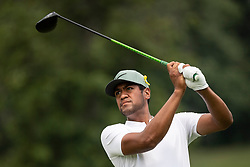 August 5, 2018 - Akron, OH, U.S. - AKRON, OH - AUGUST 05:   Tony Finau (USA) plays his shot from the sixth tee during the final round of the World Golf Championships - Bridgestone Invitational on August 5, 2018 at the Firestone Country Club South Course in Akron, Ohio. (Photo by Shelley Lipton/Icon Sportswire) (Credit Image: © Shelley Lipton/Icon SMI via ZUMA Press)