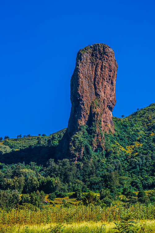 """A rock formation called """"The Devils Nose (or Tikil Dingay)"""", near Gondar, Ethiopia."""