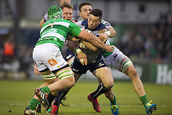 December 3, 2016 - Galway, Ireland - John Cooney of Connacht tackled by Abraham Steyn and Marco Lazzaroni of Benetton during the Guinness PRO12 Round 10 match between Connacht Rugby and Benetton Treviso at the Sportsground in Galway, Ireland on December 3, 2016  (Credit Image: © Andrew Surma/NurPhoto via ZUMA Press)