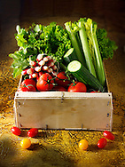 Box of Salad vegetables