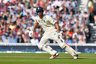 Alastair Cook of England batting in his final test match innings during day 3 of the 5th test match of the International Test Match 2018 match between England and India at the Oval, London, United Kingdom on 9 September 2018.