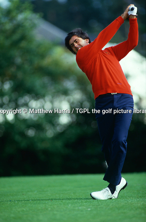 Seve BALLESTEROS (EUR) hits a massive drive off the 17th par 5 tee  during Ryder Cup Matches 1989,Brabazon Course,The Belfry,England.He went on to lose this match by 1 Down.