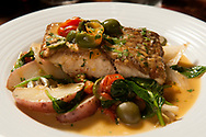 Red snapper pagello arosto is among the menu items at Cibare Italian Kitchen, the recently-opened Italian restaurant at River City Casino in Lemay Friday, April 28, 2017. The restaurant includes fine Italian dining and specialty deserts and gelato. Photo © copyright 2017 Sid Hastings.