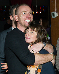 NEW YORK, NY - APRIL 6: Production designer Eve Mavrakis (R) and actor Ewan McGregor attend the 8th Annual FX All-Star Bowling Party at Lucky Strike Manhattan on April 6, 2017 in New York City. (Photo by Stephen Smith/FX/PictureGroup) *** Please Use Credit from Credit Field ***
