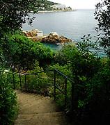 Walkway beside the sea, Lapad Bay, Dubrovnik, Croatia
