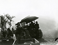 1923 Cameraman making a film during the building of the Hollywoodland sign