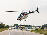 63818-024.07 Helicopter taking patient away from a motor vehicle accident on Interstate 57 Marion Co. IL