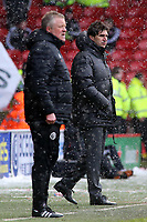 Sheffield United manager Chris Wilder & Nottingham Forest manager Aitor Karanka look on from the touchline<br /> <br /> Photographer David Shipman/CameraSport<br /> <br /> The EFL Sky Bet Championship - Sheffield United v Nottingham Forest - Saturday 17th March 2018 - Bramall Lane - Sheffield<br /> <br /> World Copyright © 2018 CameraSport. All rights reserved. 43 Linden Ave. Countesthorpe. Leicester. England. LE8 5PG - Tel: +44 (0) 116 277 4147 - admin@camerasport.com - www.camerasport.com