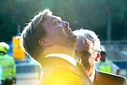 Koning Willem-Alexander bij de opening van het nieuwe Tivoli Vredenburg concert gebouw in Utrecht. Het nieuwe gebouw heeft 5 concertzalen.<br /> <br /> King Willem-Alexander at the opening of the new Tivoli Vredenburg concert building in Utrecht. The new building has 5 concerthalls. <br /> <br /> Op de foto / On the photo:  Aankomst / Arrival