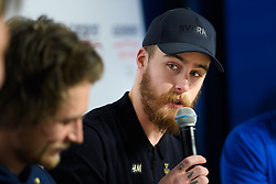 February 8, 2018 - Pyeongchang, SOUTH KOREA - 180208 Niklas Mattsson of Sweden during a press conference with the Swedish snowboard slopestyle athletes ahead of the 2018 Winter Olympics on February 8, 2018 in Pyeongchang..Photo: Carl Sandin / BILDBYRN / kod CS / 57999_277 (Credit Image: © Carl Sandin/Bildbyran via ZUMA Press)