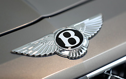 Close up of a Bentley prior to the start of the action on the Gold Cup Friday of the 2018 Cheltenham Festival at Cheltenham Racecourse.