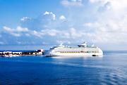 Explorer of the Seas cruise ship docked in Bermuda. Royal Caribbean Voyager line.