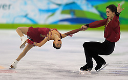 Olympic Winter Games Vancouver 2010 - Olympische Winter Spiele Vancouver 2010, Figure Skating (Pairs Free Skating), Eiskunstlauf, The Pairs Figure Skating event finished spectacularly with China showing dominance in the sport this Olympic in pairs skating. Qing Pang and Jian Tong won the silver medal with this performance. *** Photo by newsport / HOCH ZWEI / SPORTIDA.com.