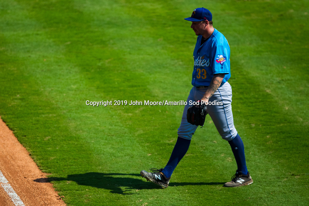 Amarillo Sod Poodles pitcher Lake Bachar (33) against the Tulsa Drillers during the Texas League Championship on Sunday, Sept. 15, 2019, at OneOK Field in Tulsa, Oklahoma. [Photo by John Moore/Amarillo Sod Poodles]