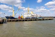 Trinity House, Multi Functional Tender (MFT) 'Patricia' ship, Harwich, Essex, England, UK