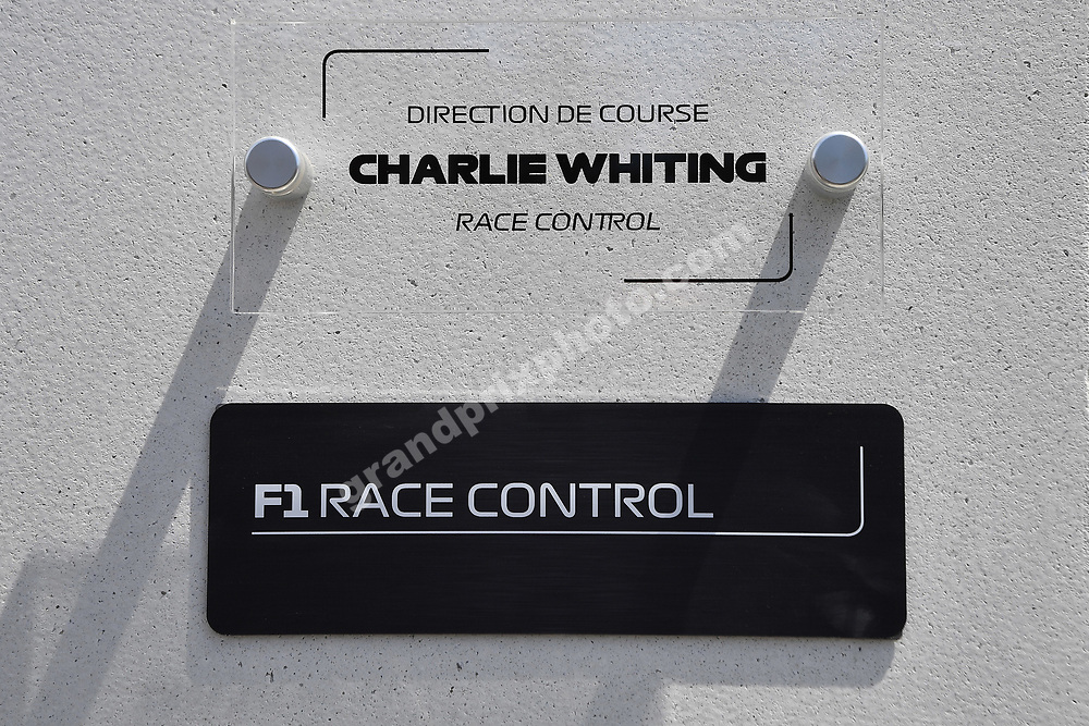 Race Control is dedicated to Charlie Whiting at the 2019 Canadian Grand Prix in Montreal. Photo: Grand Prix Photo