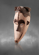 African tribal ceremonial monkey mask, wooden traditional tribe mask.