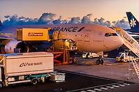 Air France jet, Fa'a'ā International Airport, Faaa, Tahiti, French Polynesia.