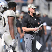 ORLANDO, FL - NOVEMBER 11: Head coach Scott Frost of the UCF Knights is seen on the sideline during a NCAA football game between the University of Connecticut Huskies and the UCF Knights on November 11, 2017 in Orlando, Florida. (Photo by Alex Menendez/Getty Images) *** Local Caption *** Scott Frost