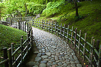 Ritsurin Trail within this magnificent landscape garden in Takamatsu.  It is  thought to be one of the finest gardens in Japan.  The garden boasts many features such as trails, teahouses, ponds, hills and pavilions set by Mt. Shiun providing a kind of borrowed scenery.