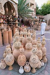 Ceramic pots for sale at Souk in Nizwa Oman