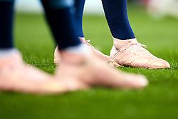 The boots of Ilkay Gundogan and Aymeric Laporte of Manchester City - Mandatory by-line: Robbie Stephenson/JMP - 19/09/2018 - FOOTBALL - Etihad Stadium - Manchester, England - Manchester City v Lyon - UEFA Champions League Group F