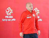 ARLAMOW, POLAND - MAY 31: Michal Pazdan during press conference at Arlamow Hotel during the second phase of preparation for the 2018 FIFA World Cup Russia on May 31, 2018 in Arlamow, Poland. (MB Media)