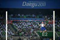 ATHLETICS - IAAF WORLD CHAMPIONSHIPS 2011 - DAEGU (KOR) - DAY 3 - 29/08/2011 - MEN POLE VAULT FINAL - RENAUD LAVILLENIE (FRA) / 3RD - PHOTO : FRANCK FAUGERE / KMSP / DPPI