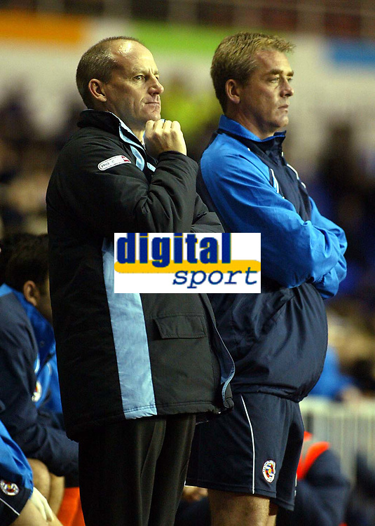 Photograph: Scott Heavey.<br />Reading v Millwall. Nationwide Division One. 15/11/2003.<br />A cool and calm Steve Coppell watches on as his Reading side win 1-0