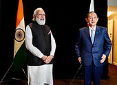 September 23, 2021 - IND/DC: Prime Minister Narendra Modi Meets with Prime Minister Yoshihide Suga